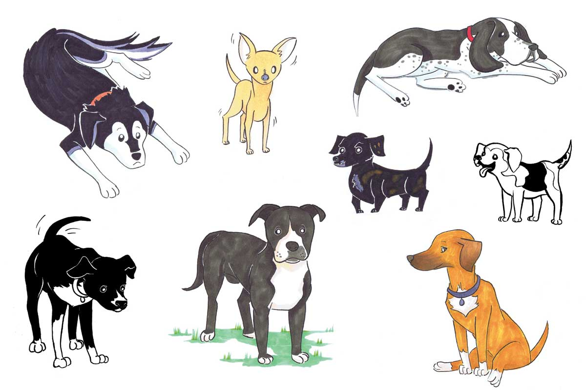 cartoon-dog-Portraits